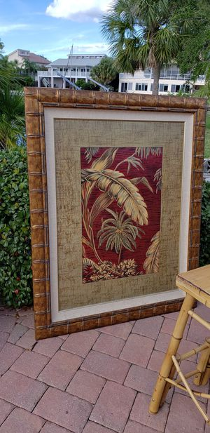 Gigantic red leaves picture Tropical Safari palm beach for Sale in New Port Richey, FL