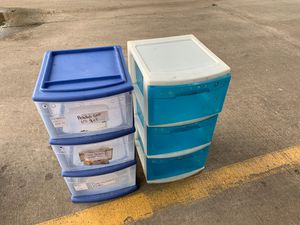 Plastic Boxes of 3 Drawers used for Sale in Houston, TX