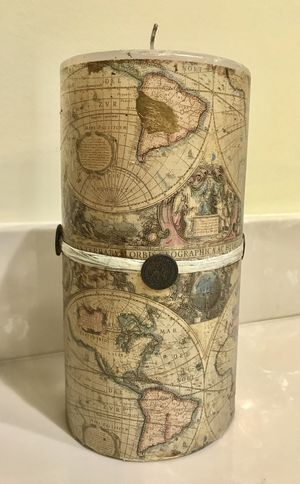 """8"""" tall large candle pillar for Sale in West Palm Beach, FL"""