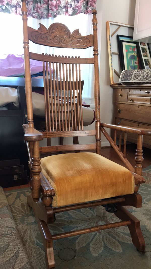 Antique glider rocker