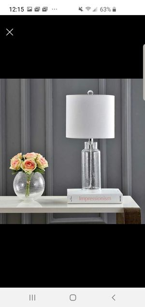 Clear table lamp for Sale in Georgetown, KY