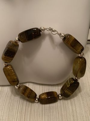 Silver bracelet with tiger's eye for Sale in Whittier, CA