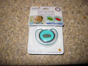 Summer Infant Pacifier Thermometer, Teal/White for Sale in Traverse City, MI