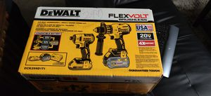 DeWalt 20-Volt MAX Lithium-Ion Cordless Brushless Combo Kit (2-Tool) with FLEXVOLT and 20-Volt Battery and Charger for Sale in Garden Grove, CA