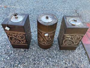 Set of three oil lamps for Sale in Manson, WA