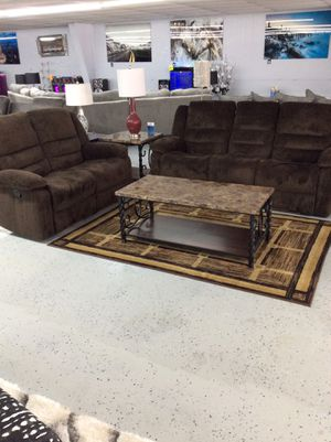 Comfy brown sofa + love seat for Sale in Mableton, GA