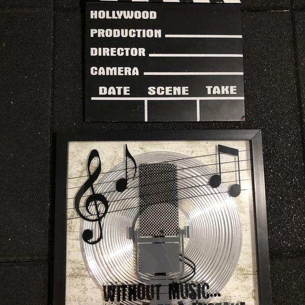 Film poster music frame wall decor both for $10