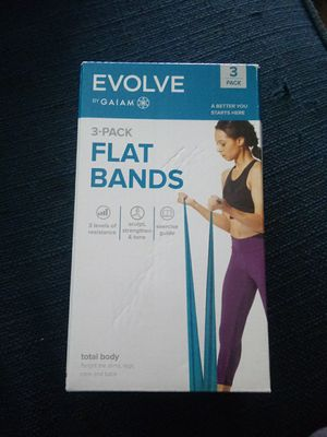 EVOLVE 3 PACK FLAT BANDS for Sale in Dallas, TX
