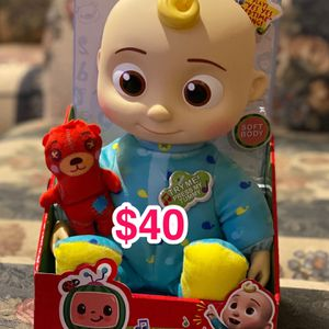 Cocomelon Musical Bedtime JJ Doll, with a Soft, Plush Tummy and Roto Head – Press Tummy and JJ Sings for Sale in Santa Ana, CA