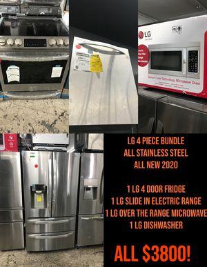 BRAND NEW LG FOUR PIECE APPLIANCE KITCHEN SET BUNDLE for Sale in Garden Grove, CA