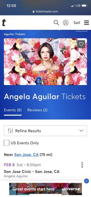 Ángela Aguilar Tikets 2 for Sale in San Jose, CA