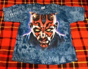 Vintage Star Wars Darth Maul Episode 1 Liquid Blue T-shirt Sz L for Sale in Compton, CA