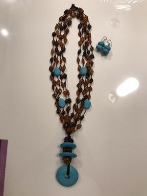 Amber and Turquoise necklace for Sale in Hollywood, FL