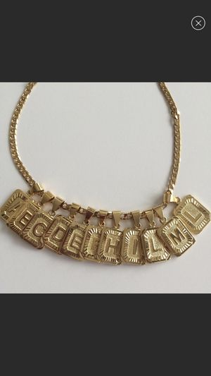 New 18k gold plated letter chain necklace for Sale in Sugar Hill, GA