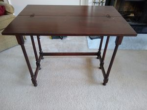 Small foldable wooden vintage writing table / desk for Sale in Reston, VA