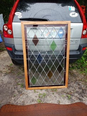 Antique stained glass framed window for Sale in Dona Vista, FL
