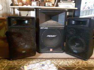 Pro Audio PA speakers 600 watts a piece Peavey sp2g 15in speaker 1200 watt for Sale in Milton, FL
