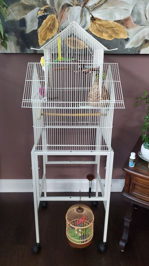 Bird Cage on wheels for Sale in Northfield, OH