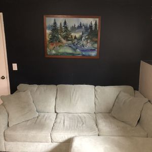 Fabric Sleeper Sofa (Excellent condition) for Sale in Lake Oswego, OR