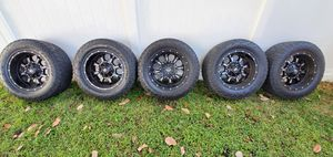 "(5) 20"" Fuel Blitz wheels w/ Toyo Open County A/T2s for Sale in Tampa, FL"
