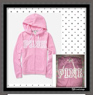 New Victoria's Secret PINK Everyday Lounge Perfect Full-ZIP Hoodie Size Small for Sale in Houston, TX