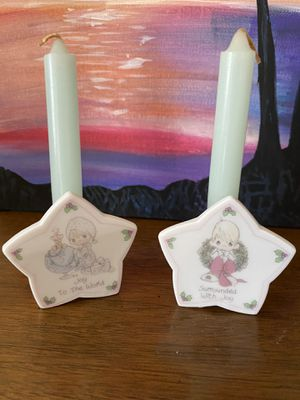 Precious Moments set (7 pieces - ornaments/candles/figurines) for Sale in Oakley, CA
