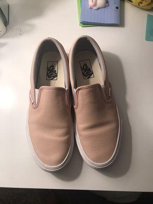 Leather Pink Vans Slip-Ons Size 10 for Sale in Billings, MT