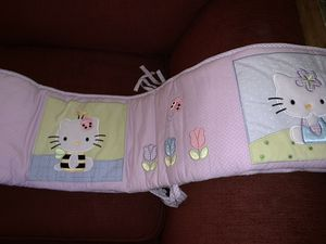 Hello Kitty Bumper, 12 Blankets, 2 fitted sheets OBO for Sale in Kissimmee, FL