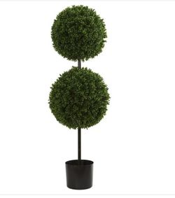 Nearly Natural 3.5 in. UV Resistant Indoor/Outdoor Boxwood Double Ball Artificial Topiary Tree for Sale in Grand Prairie,  TX