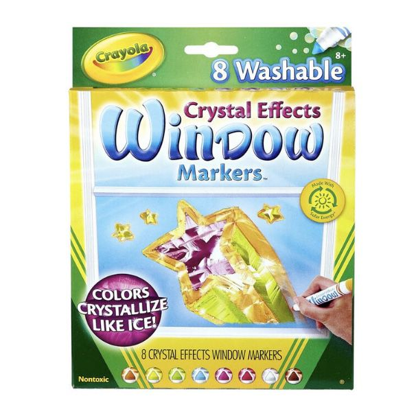 Crayons Crystal Effects Window Markers