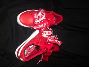 Red and white Puma shoes for Sale in Washington, DC