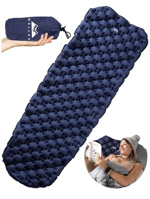 WELLAX Ultralight Air Sleeping Pad - Inflatable Camping Mat for Backpacking, Traveling and Hiking Air Cell Design for Better Stability & Support - Be for Sale in Las Vegas, NV
