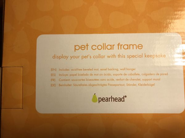 Memorial pet Collar Frame/ Shadow box to Remember Your Pet Fur Baby... New In Box