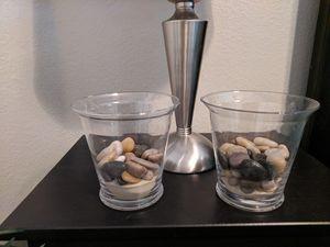 Decorative Glass Jars ( Set Of 2) for Sale in Litchfield Park, AZ
