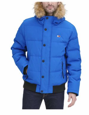 Tommy Hilfiger Short Snorkel Coat Brave the chilly temperatures in this short snorkel coat with attached faux-fur hood from Tommy Hilfiger. Attache for Sale in Tennerton, WV