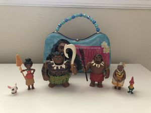 Disney Moana figurine set and matching purse for Sale in Fort Lauderdale, FL