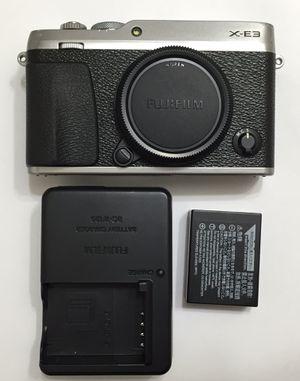 Fuji fujifilm X-E3 24mp digital dslr mirrorless touch screen camera x mount body only for Sale in San Tan Valley, AZ