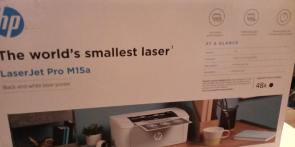 Hp smallest laser jet printer m15A black ink only