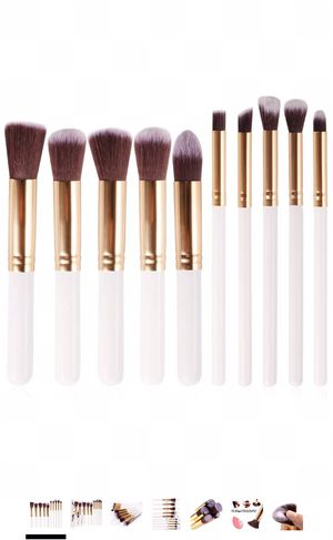 10 Pcs Makeup Brushes Sets Premium Synthetic Fibers Brush Blending Foundation Eyeshadow Face Powder Brush Travel Make-up Brushes Collection Exquisite for Sale in Powell, OH