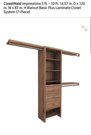 New Closetmaid Impressions Walnut Basic Pluse!!!! for Sale in Hammond, IN
