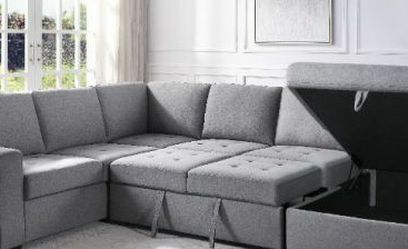 Price Online‼️ 5pcs SLEEPER/ SECTIONAL/SOFA W/STORAGE • Delivery • Assembly • FREE Financing ‼️Same as cash for Sale in Henderson,  NV