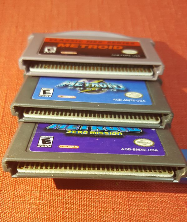 Nintendo Game Boy Advance METROID TRILOGY: Classic NES, Fusion, and Zero Mission (Original - Tested)