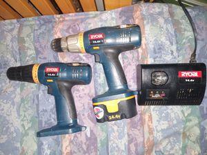 Ryobi 14.4 volt 2 Drills 1 Batt 1 Charger for Sale in Everett, WA