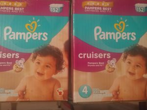 Pampers size 4 cruisers, 152 count per box for Sale in Portland, OR