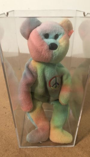 TY Peace Bear beanie babie RARE mint for Sale in Wildomar, CA