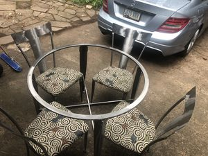 Cantoni Aluminum & Glass Top Table and Chairs for Sale in Payson, AZ