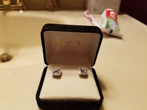Sterling silver diamond stud earrings from kay jewelers for Sale in Monroeville, PA