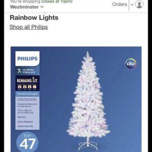 Christmas Tree Philips 7ft Lit White Iridescent Douglas (252 LED Lights) for Sale in Garden Grove, CA