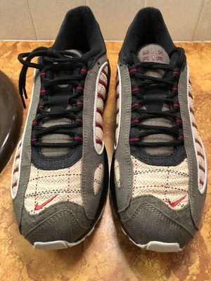 Men's Nike Air Max Tailwind 4 Plaid Olive Canvas Casual Shoe CT1197-001 Size 11.5 for Sale in Wichita, KS
