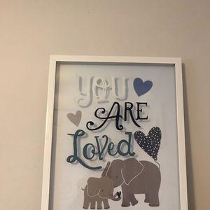 Elephant Baby Nursery Frame for Sale in La Habra, CA